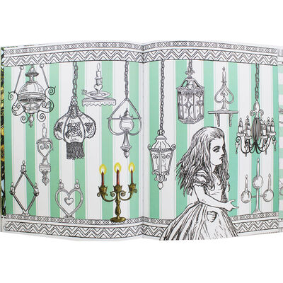 Alice's Adventures in Wonderland: A Colouring Transfer Book image number 2