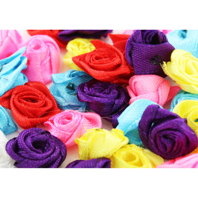 Colourful Rose Embellishments - 3 Pack image number 4