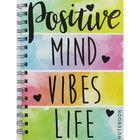 A5 Wiro Positive Mind Lined Notebook image number 1