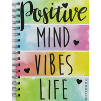 A5 Wiro Positive Mind Lined Notebook