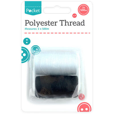 Polyester Thread 500m - 2 Pack image number 1