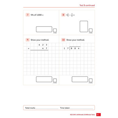KS2 SATs Arithmetic 10-Minute Tests: Ages 10-11 image number 2