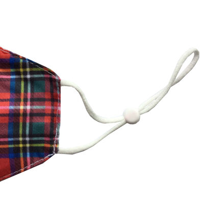 Red Tartan Reusable Face Covering image number 2