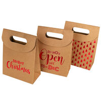 Christmas Mini Kraft Bags: Pack of 3
