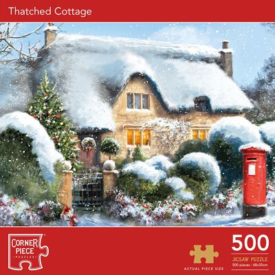 Thatched Cottage 500 Piece Jigsaw Puzzle image number 1