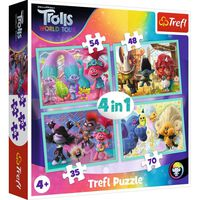 Trolls 4-in-1 Jigsaw Puzzle Set