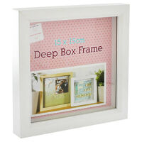 Easter Make Your Own White Deep Box Frame: 15cm x 15cm Bundle