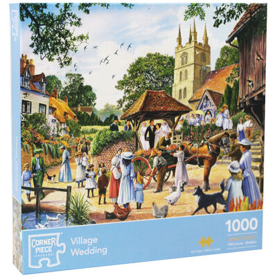 Village Wedding 1000 Piece Jigsaw Puzzle image number 1