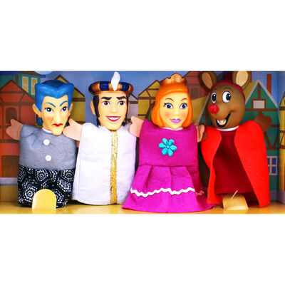 Cinderella Tabletop Plastic Puppets Theatre Playset image number 3