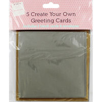 Create Your Own Metallic Greeting Cards - Pack of 5