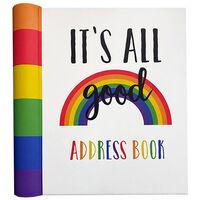 Rainbow It's All Good Address Book
