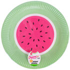 Watermelon Paper Plate Pack of 8 image number 1
