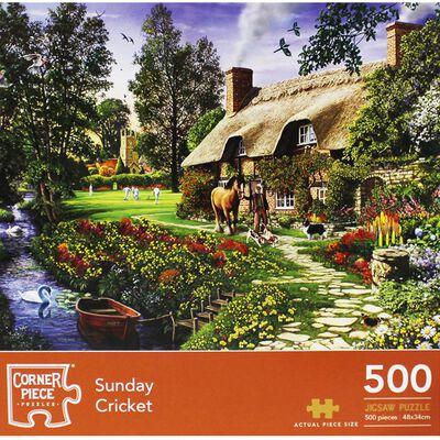 Sunday Cricket 500 Piece Jigsaw Puzzle image number 1
