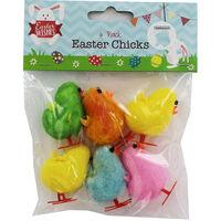 Multi-Coloured Easter Chicks - 6 Pack