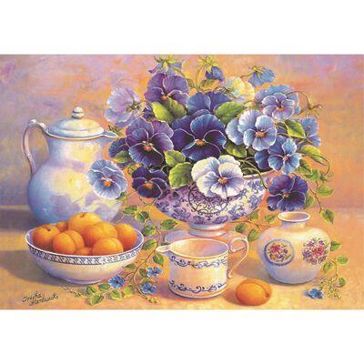 Blue Bouquet 1000 Piece Jigsaw Puzzle image number 2
