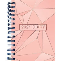 B5 Rose Gold 2021 Day a Page Diary