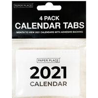 Calendar Tabs 2021: Pack of 4