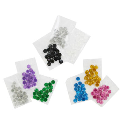 180 Mini Glitter Dome Embellishments image number 1