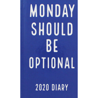 Monday Optional Slim 2020 Pocket Diary - Week To View image number 1