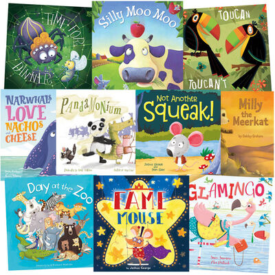 Day at the Zoo: 10 Kids Picture Books Bundle image number 1