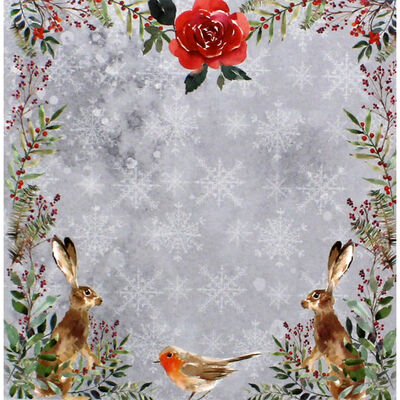 Once Upon a Christmas Scene and Sentiment Toppers Pad - 5x5 Inch image number 3