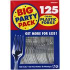 Clear Plastic Forks - 125 Pack image number 1