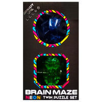 Neon Brain Maze Twin Puzzle Set - Assorted