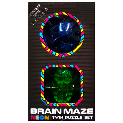 Neon Brain Maze Twin Puzzle Set - Assorted image number 1