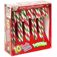 Elf Peppermint Candy Canes - Box Of 10
