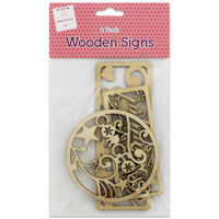 Natural Wooden Signs: Pack of 3