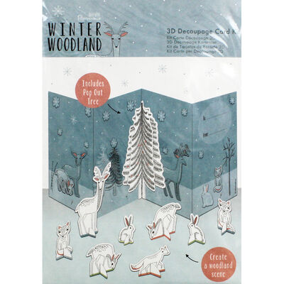 Winter Woodland 3D Decoupage Card Kit image number 1