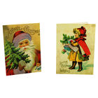 8 Vintage Christmas Cards in Tin - Young Girl image number 3