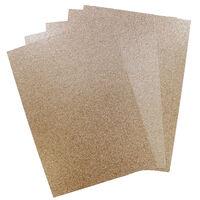 A4 Glitter Card Rose Gold 300gsm 10 Sheets