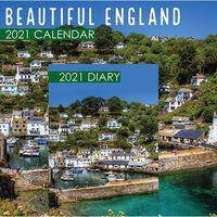 Beautiful England 2021 Calendar and Diary Set