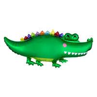 42 Inch Happy Alligator Shape Helium Balloon