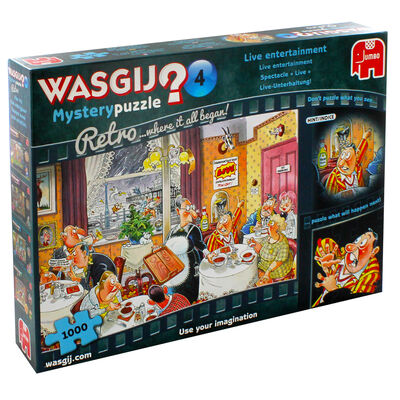 Wasgij Retro Mystery 4 Live Entertainment 1000 Piece Jigsaw Puzzle image number 1