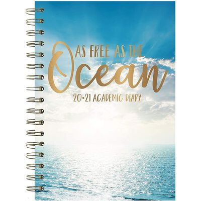A5 As Free As The Ocean Week to View 2020-21 Academic Diary image number 1
