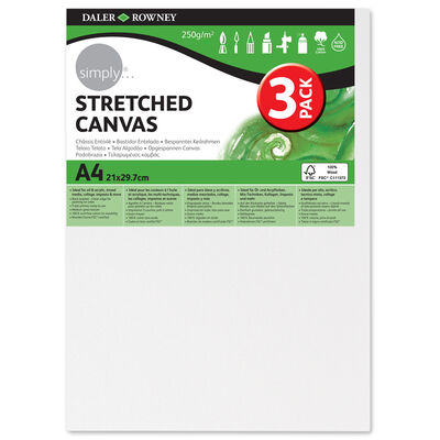 Stretched Canvases A4 Pack of 3 image number 1