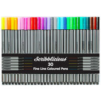 Scribblicious Fine Line Coloured Pens - Pack of 30