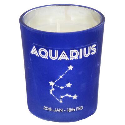 Zodiac Collection Aquarius Fresh Vanilla Candle image number 2