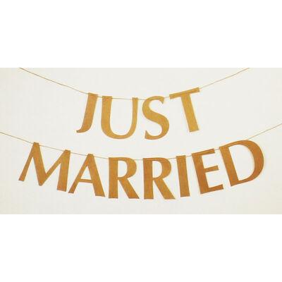 Just Married Kraft Bunting image number 1