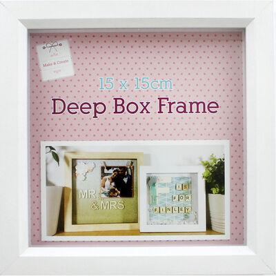 White Deep Box Frame - 15cm X 15cm image number 2