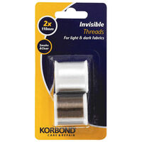 Korbond Invisible Smoke And Clear Nylon Thread: Set of 2