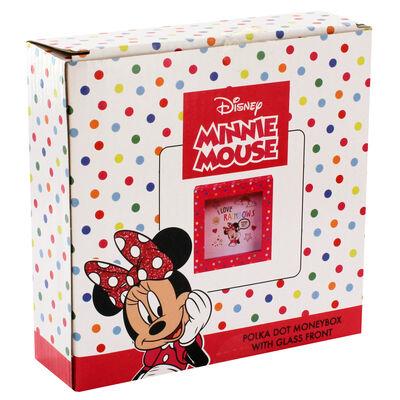 Disney Minnie Mouse Pink Polka Dot Money Box image number 1