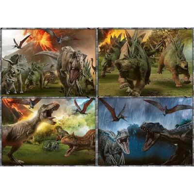 Jurassic World Fallen Kingdom 4-in-1 Jigsaw Puzzle image number 2