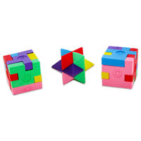 3D Puzzle Erasers: Pack of 3
