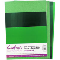Crafters Companion A4 Luxury Cardstock Pack - Green