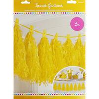 Yellow Paper Tassel 3m Garland