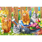Kittens in the Garden 500 Piece Jigsaw Puzzle image number 4