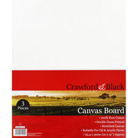 3 Flat Canvas Boards - 10 x 12 Inch